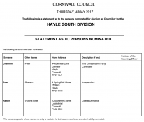 Hayle South Division