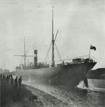 Crazy that the biggest ship built in #cornwall #SSRamleh at 3,800 tonnes was built in #hayle in 1890