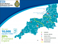 South Western Ambulance Service Foundation Trust covers 10,000 square miles, 20% of mainland England