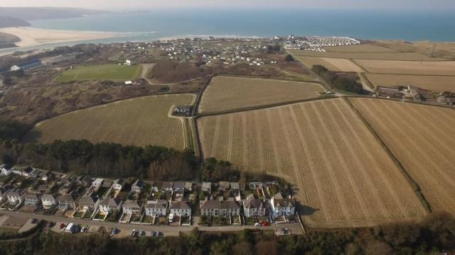Riviere Fields, Hayle, Cornwall  from Kitchener Land and Planning