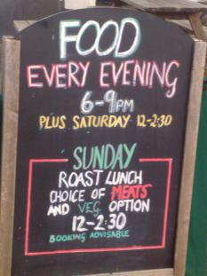Food every evening 6pm - 9pm Saturday lunch 12pm Sunday Roasts, vegetarian option also available 12pm-3pm Quiz on Sunday evenings 8.30pm | Angarrack Inn
