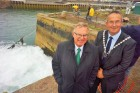 On their watch John Pollard and Nick Farrar see sluicing start at Hayle Harbour after 43 years of dereliction #hayle