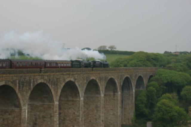 Royal Duchy steam Train on Angarrack Viaduct