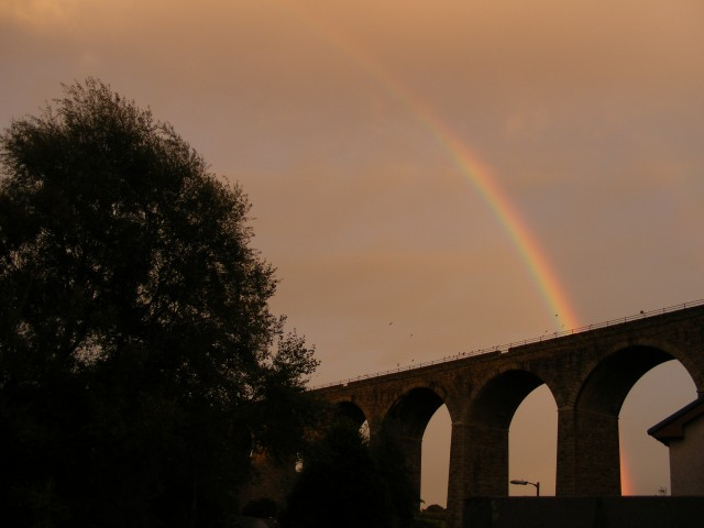 Rainbow over Angarrack Viaduct